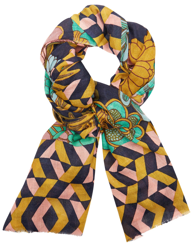 Ablooming scarf blooming multi color