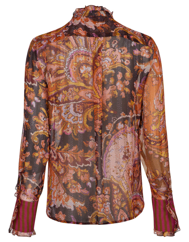Bjork blouse fan paisley stitched 191624