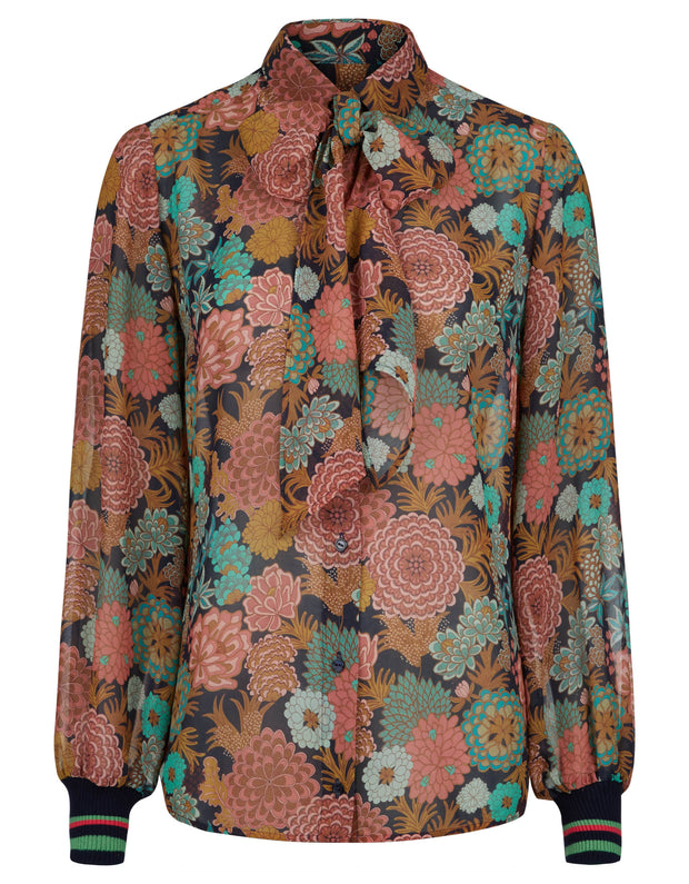 Beyonce blouse blooming multi color