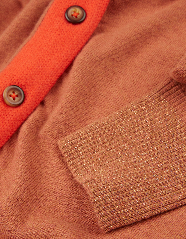Kelsa cardigan orange