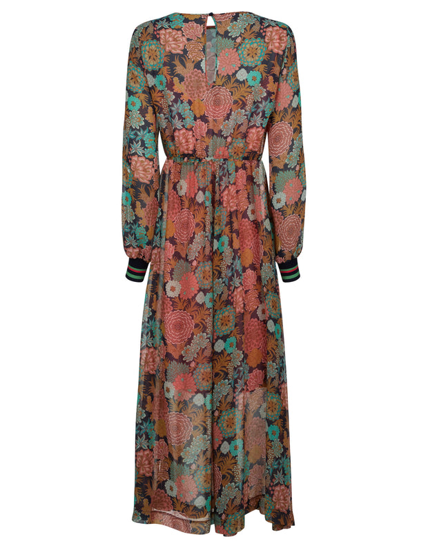 Dian dress blooming multi color