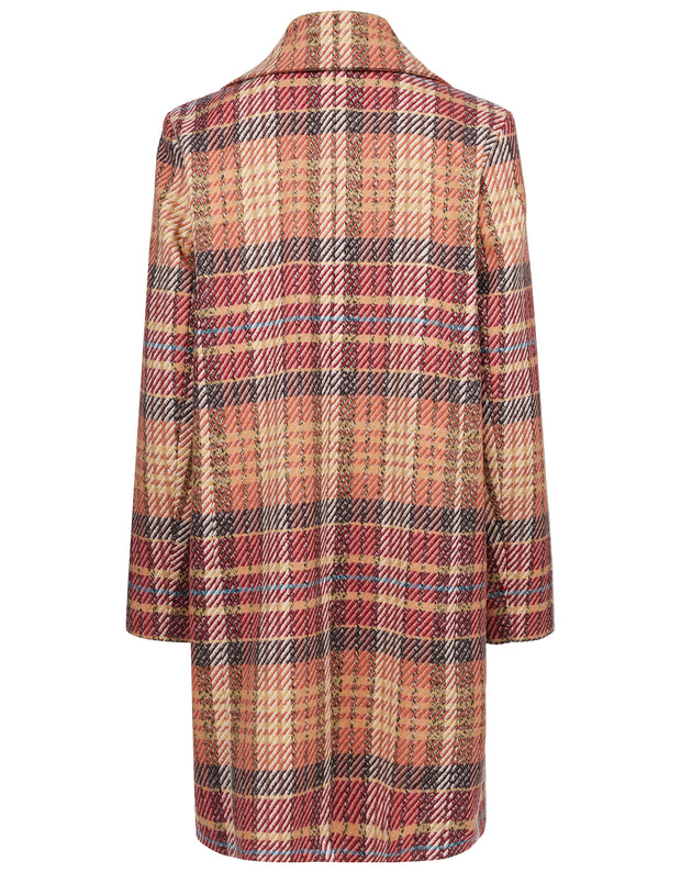 Claire P coat check new blush
