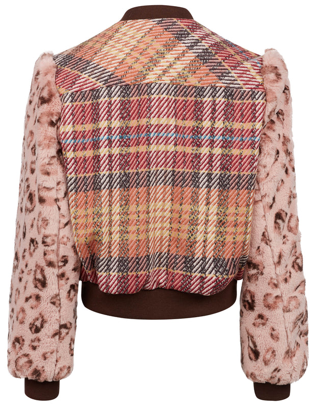 Janette jacket check new blush