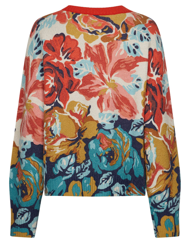 Kamelia pullover painted floral