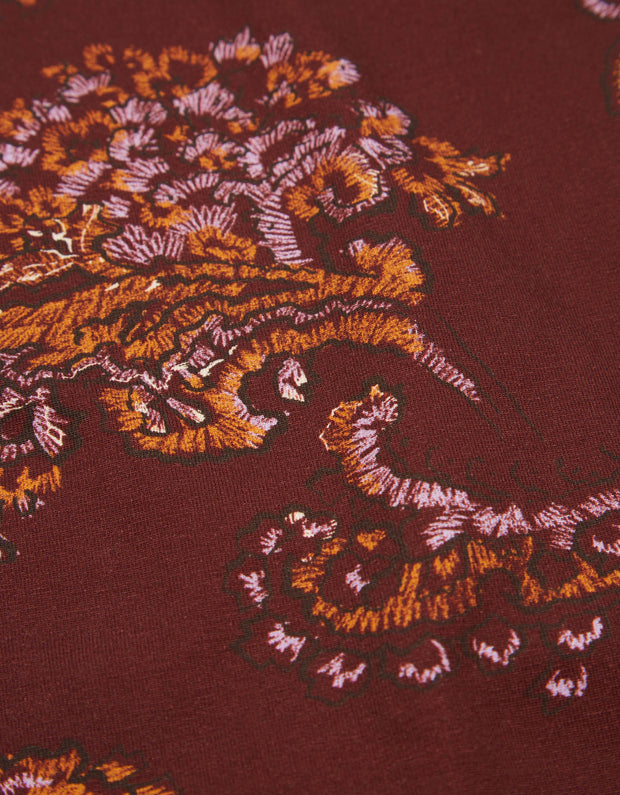 Torstine turtle neck reef paisley rosewood-Oilily-S-Oilily.com