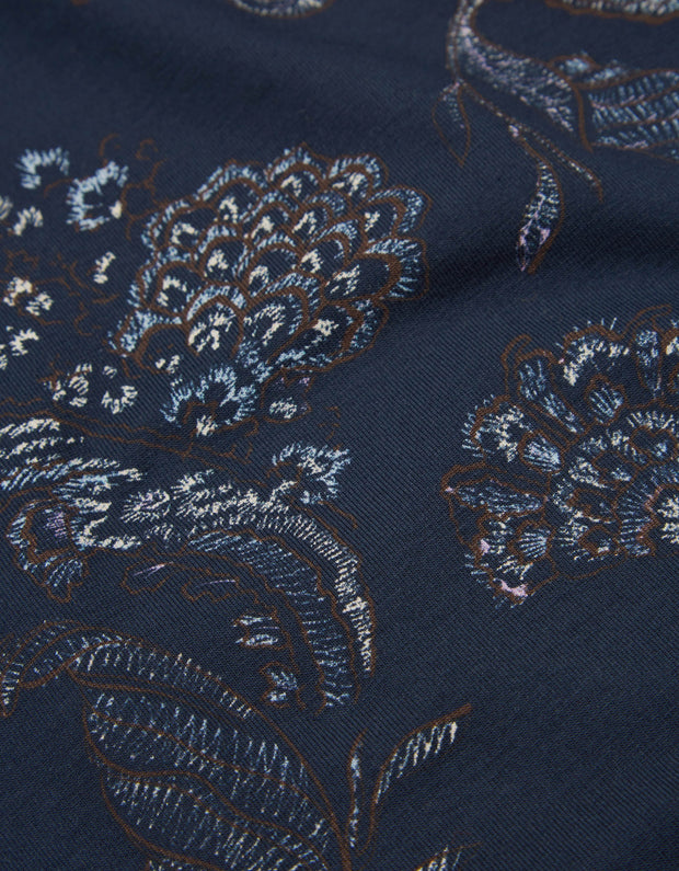 Torstine turtle neck reef paisley twilight blue