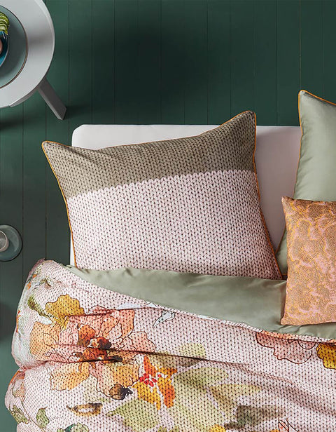 Duvet Cover Knitted Rose Multi-Oilily-140x200/60x70(1)-Oilily.com