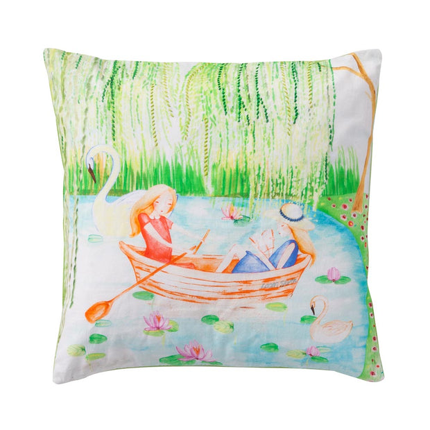 Cushion cover two girls in the boat-Room Seven-1-Oilily.com