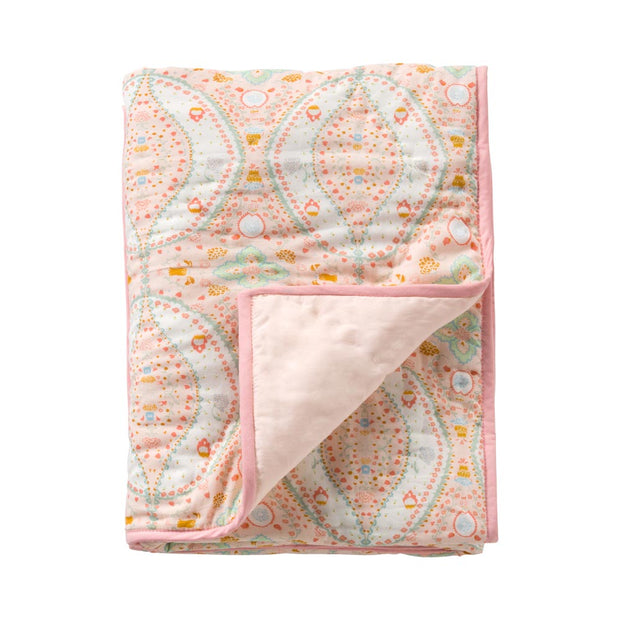 Quilt paisley, solid pink-Room Seven-1-Oilily.com