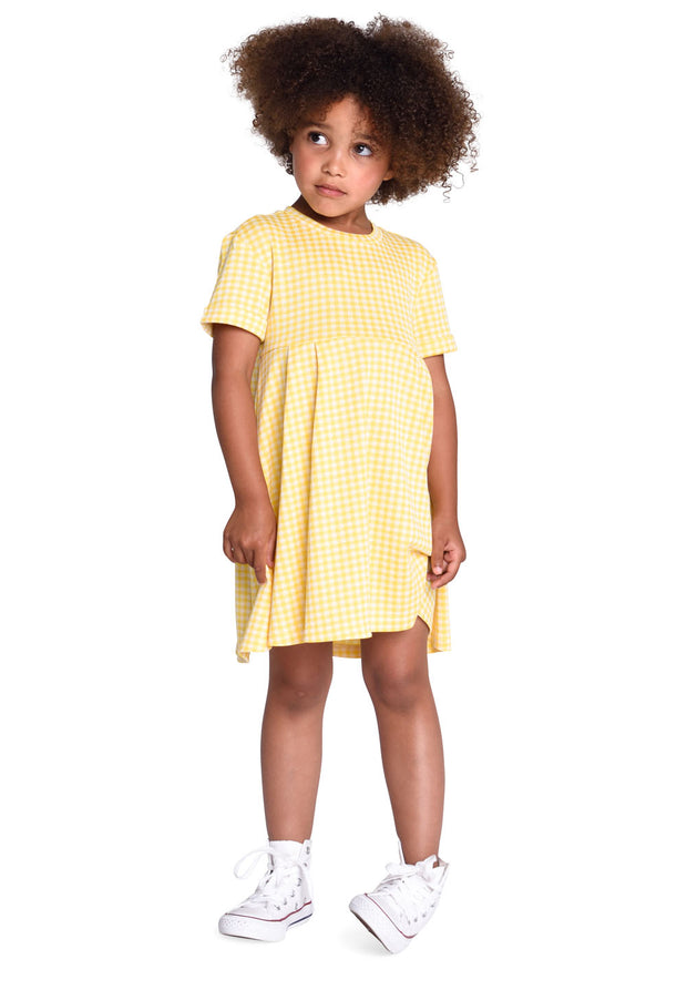 Jersey dress Talama for girls yellow-Room Seven-Oilily.com