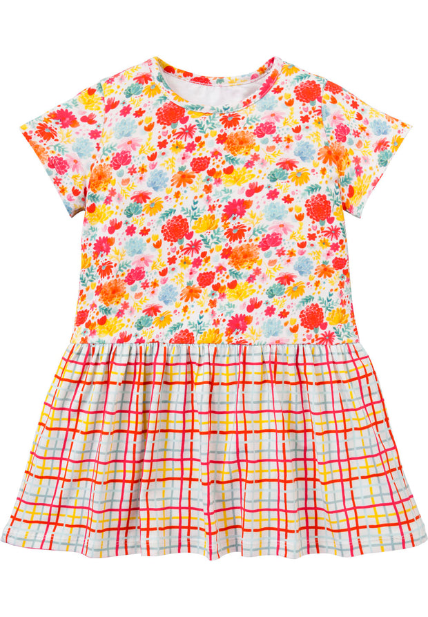 Jersey dress Taramel for girls white-Room Seven-Oilily.com