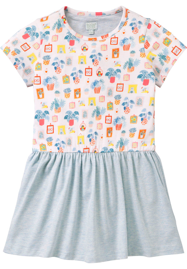 Jersey dress Taramel for girls light blue-Room Seven-Oilily.com