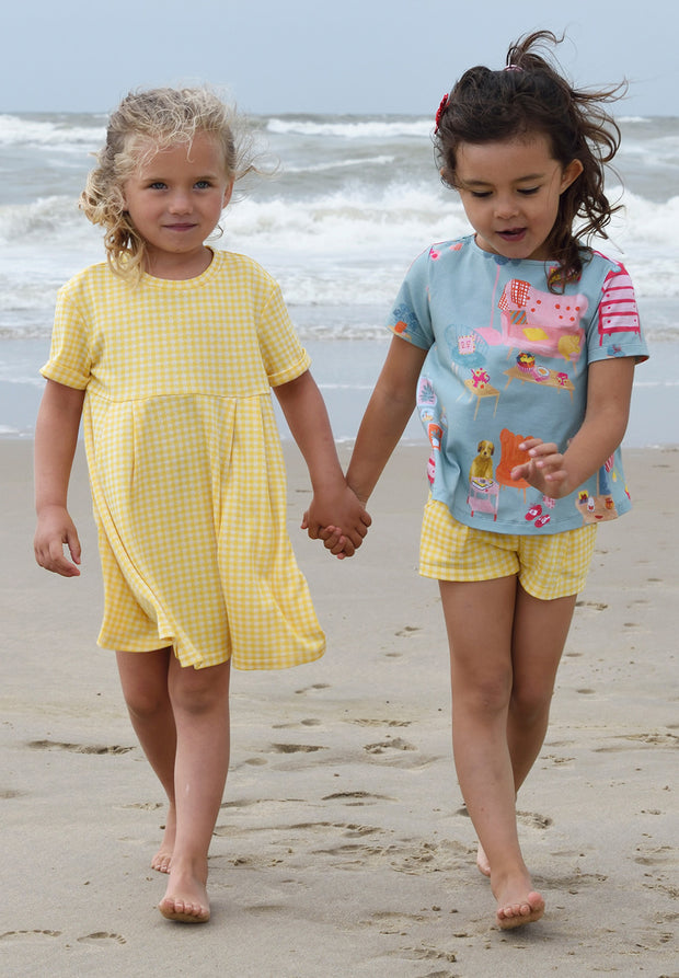 Jersey shorts Tariana for girls yellow-Room Seven-Oilily.com