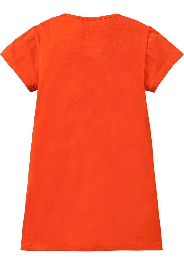 Jersey dress Tatoua for girls orange-Room Seven-Oilily.com