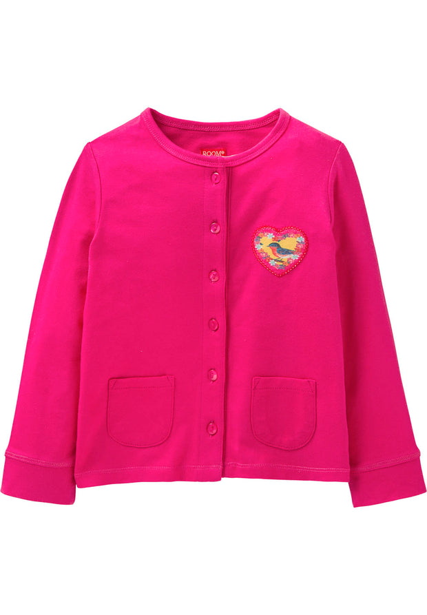Jersey cardigan Tatuma for girls pink-Room Seven-Oilily.com
