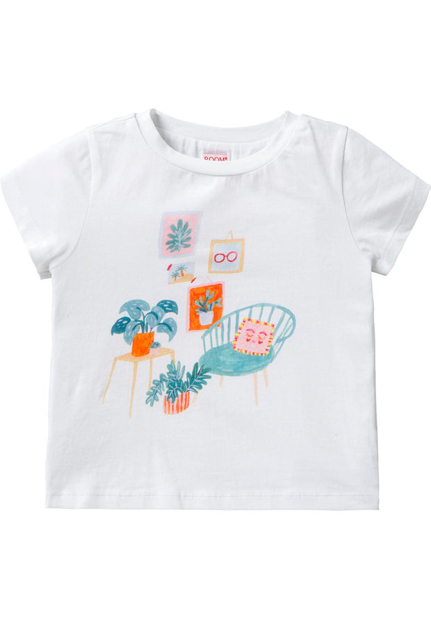 Jersey T-shirt Tino for girls white-Room Seven-Oilily.com