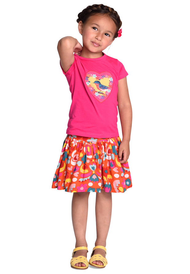 Jersey T-shirt Tins for girls pink-Room Seven-Oilily.com