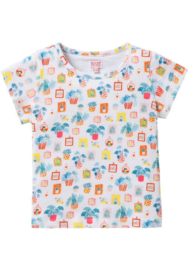 Jersey T-shirt for Tins girls white-Room Seven-Oilily.com