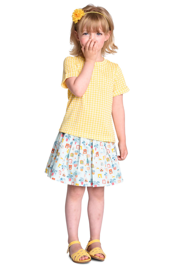 Jersey T-shirt Tipo for girls white/yellow-Room Seven-Oilily.com
