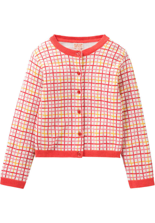 Knitted cardigan Kidiko for girls offwhite-Room Seven-Oilily.com