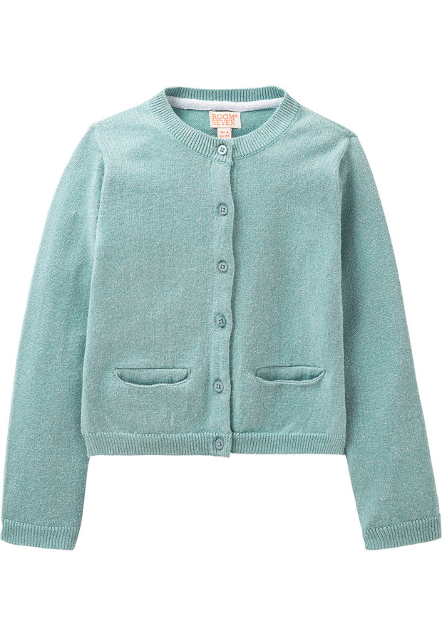 Knitted cardigan Koala for girls blue-Room Seven-Oilily.com