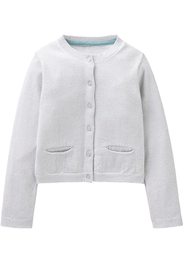 Knitted cardigan Koala for girls grey-Room Seven-Oilily.com