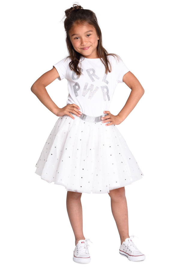 Skirt Shillian for girls white-Room Seven-Oilily.com