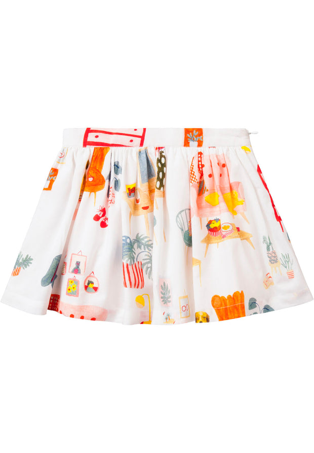 Skirt Spoon for girls white-Room Seven-Oilily.com