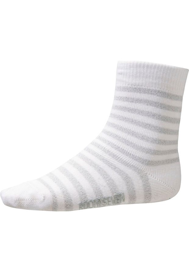 Socks Maria for girls silver white-Room Seven-Oilily.com