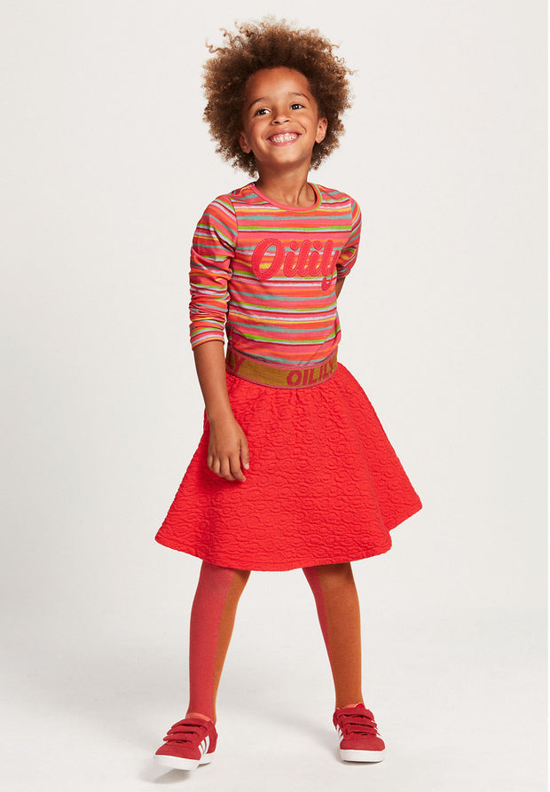 Long sleeve T-shirt Tip red for girls