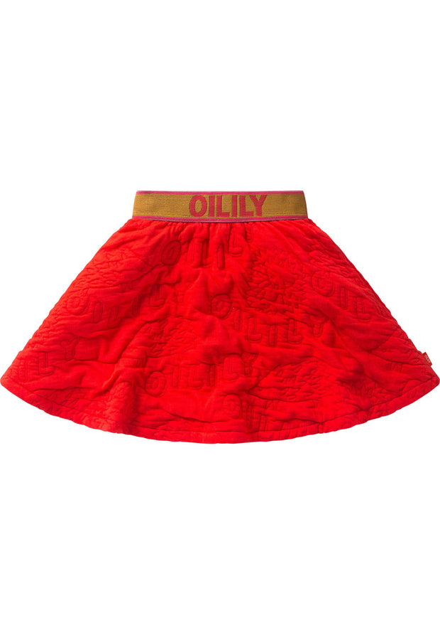 A-line skirt Hare red for girls