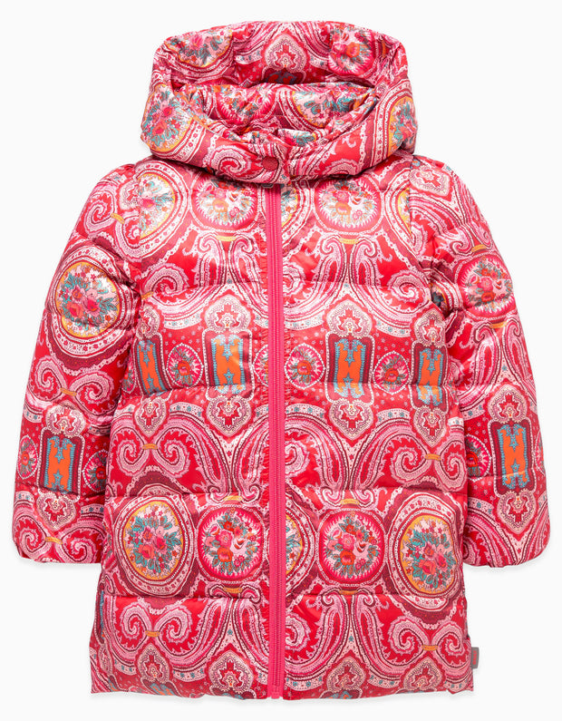 Down jacket Cheddar Paisley Orient red
