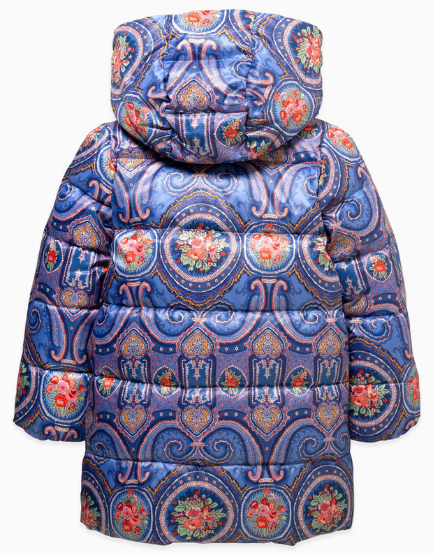 Down Jacket Paisley Orient blue