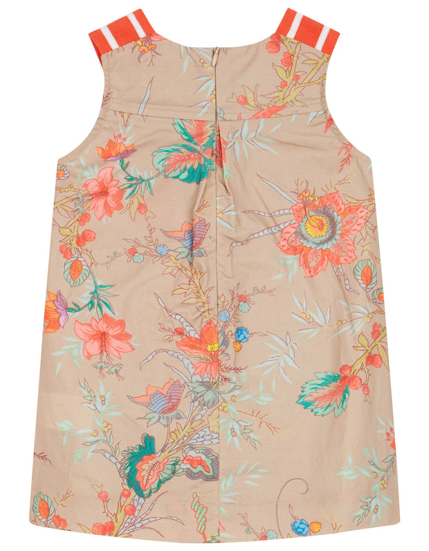Drop khaki dress with oilily's favourite floral print