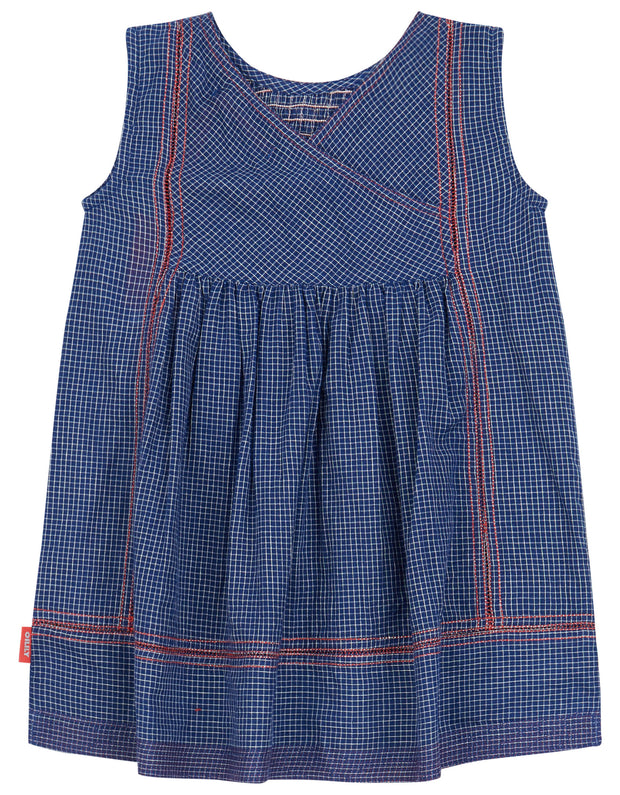 Durf lovely summer dress with red embroidered details