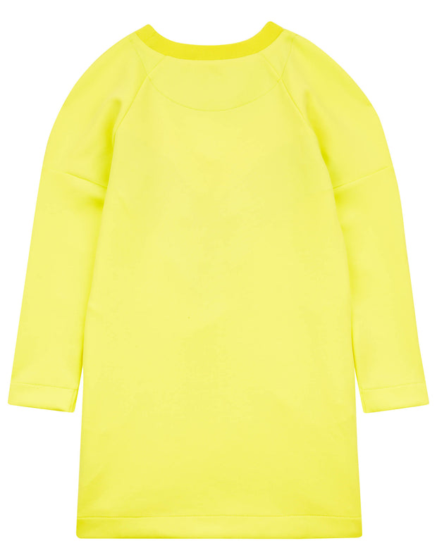 Hister sporty yellow kite dress in scuba material