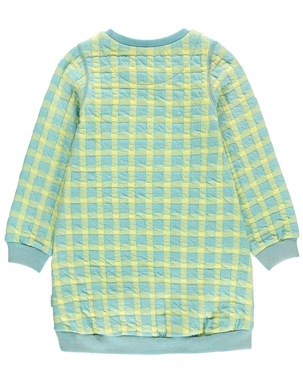Huphup sweat dress check quilted