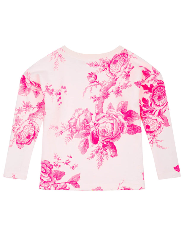 Hobert cream-coloured sweater with floral pattern