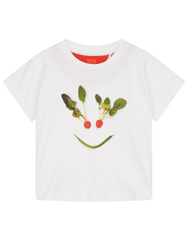 Tak white jersey t-shirt with funny print