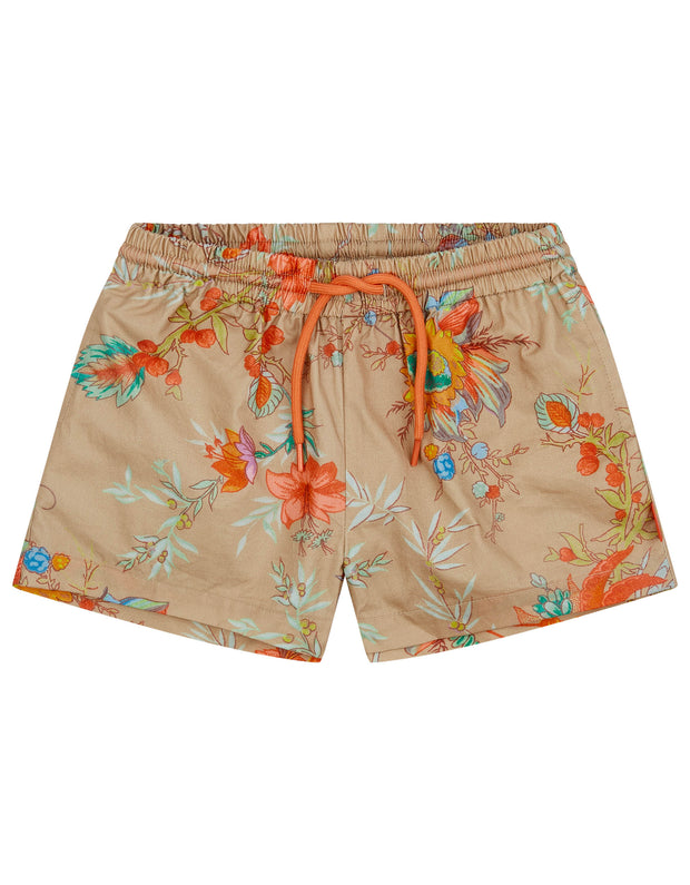 Pan shorts with drawstring, adjustable waist and 4 side pockets