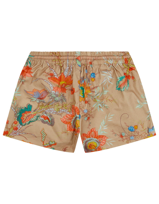 Pan shorts with drawstring, adjustable waist and 2side pockets