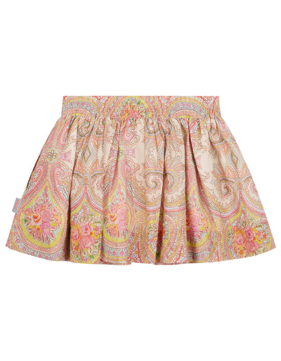 Spat skirt with hidden pockets and elastic waist