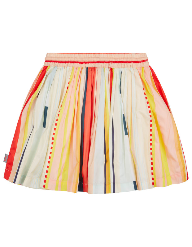 Kite pleated skirt with elastic waist and drawstring