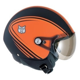 open face  motorcycle crash NEXX Vision 66 Style Helmet Colour: Black/Orange _101