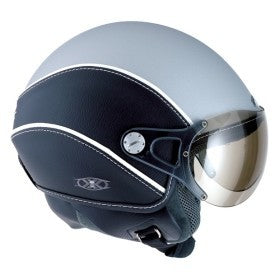 NEXX Vintage Vision Style Open Face Scooter Helmet Colour: Grey /Black - (XS) - CLEARANCE
