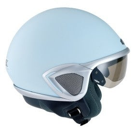 NEXX LUX Look Style Helmet Colour: Pastel Blue/Aluminium Size: Medium spec_3004l