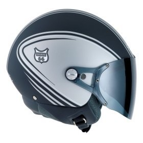 NEXX Vision 66 Style Helmet Colour: Black/Grey Extra Small spec_1014blk-gry