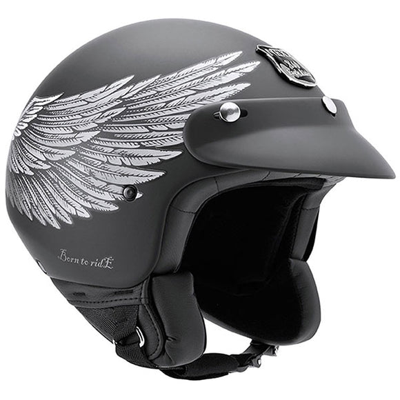 Nexx X60 Eagle Rider Black Soft Motorcycle Helmet 01x6001114