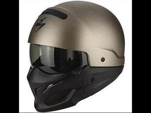 Scorpion EXO COMBAT modular Motorcycle crash Helmet, Titanium, Size M full or open face modern cool  skid lid