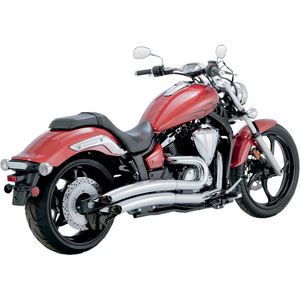 Yamaha Stryker XVS1300C exhaust VANCE & HINES 18529  BIG RADIUS 2-INTO-2 CHROME VH 18529 sale �400 off !